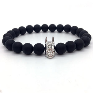 Batman Men Bracelet black matt silver | etrolleys.com