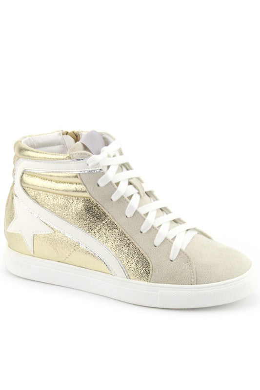 Dale Star High Top Sneaker, Gold