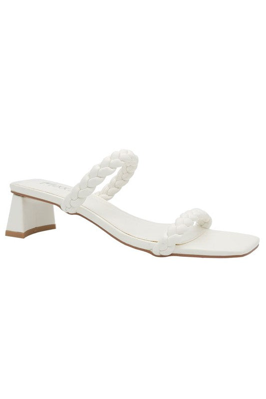 Jovi Braided Sandal, White