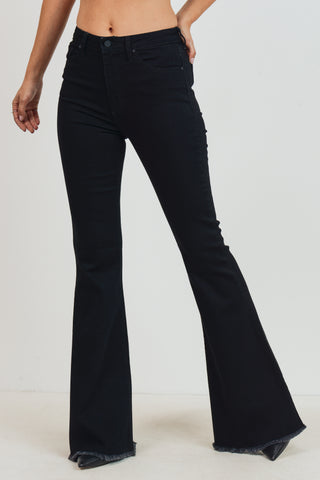 Classic Bell Bottom Jeans, Black