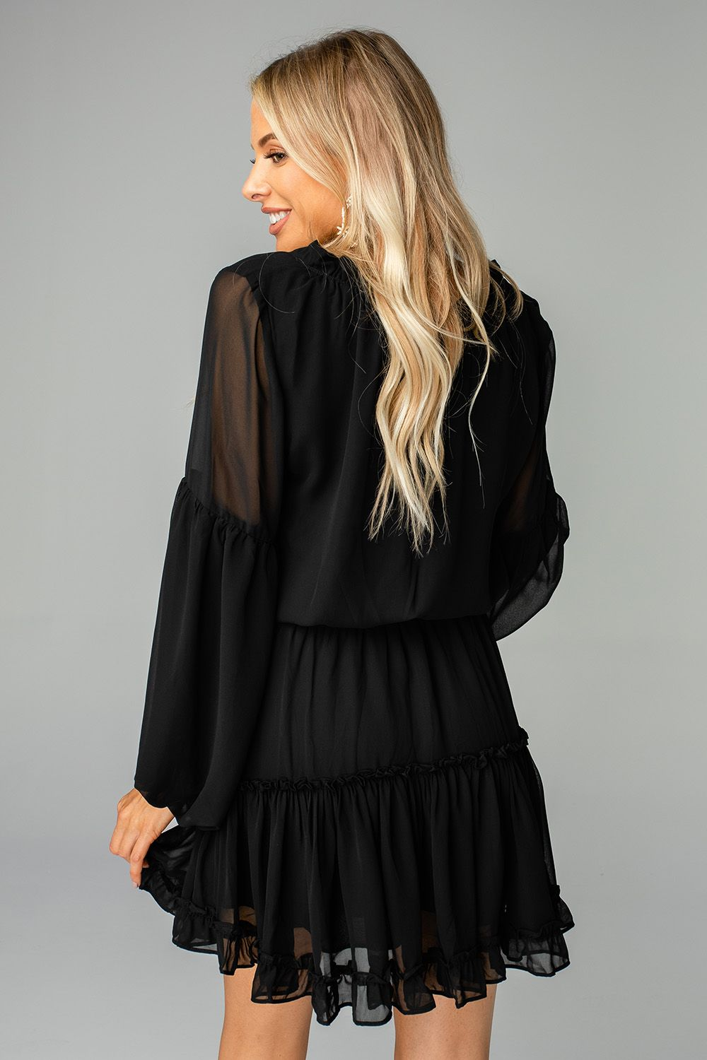 Zozo Solid Dress, Black