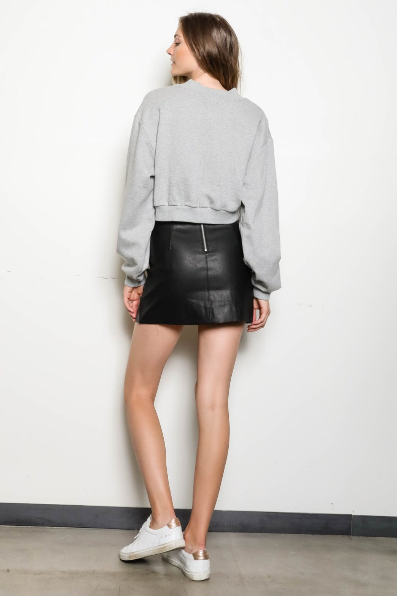Evelyn Leather Skirt