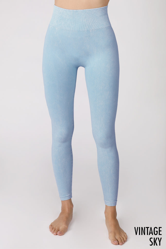 Vintage High Waisted Leggings, Vintage Sky