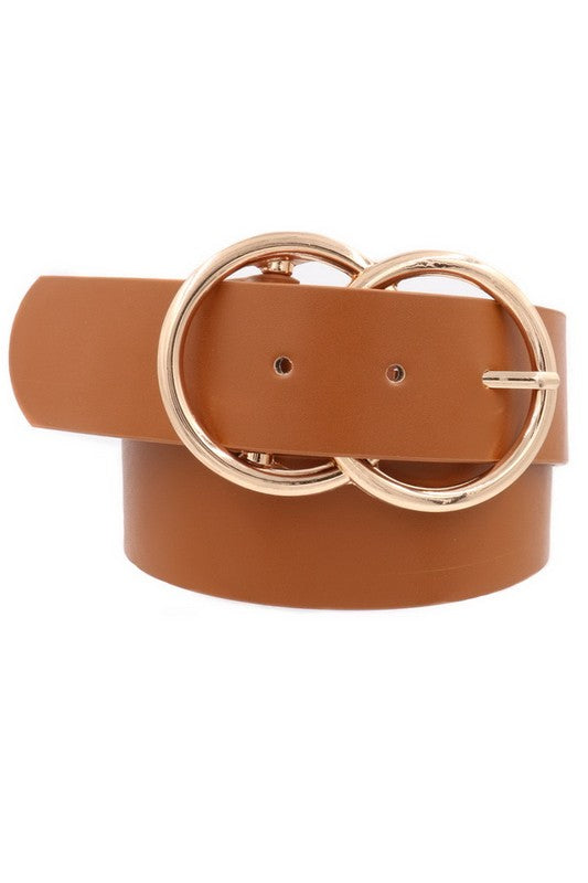 Oslo Belt, Brown/Gold