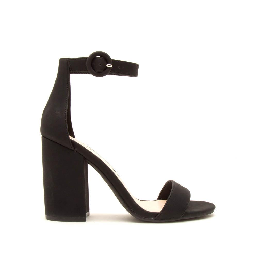 Lake Faux Suede Heel, Black