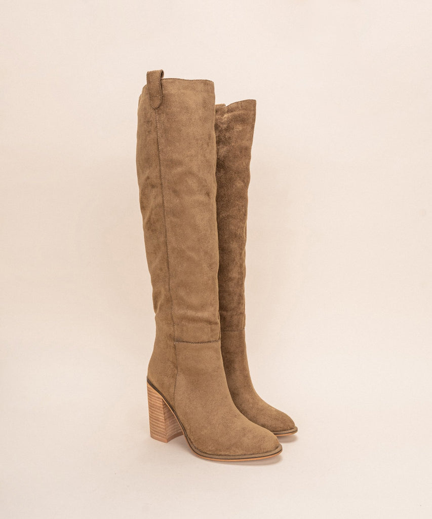 Saint Knee High Boot, Camel