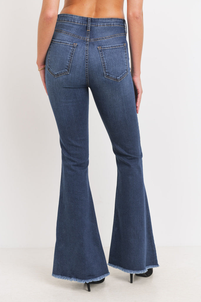 Classic Bell Bottom Jeans, Dark Denim