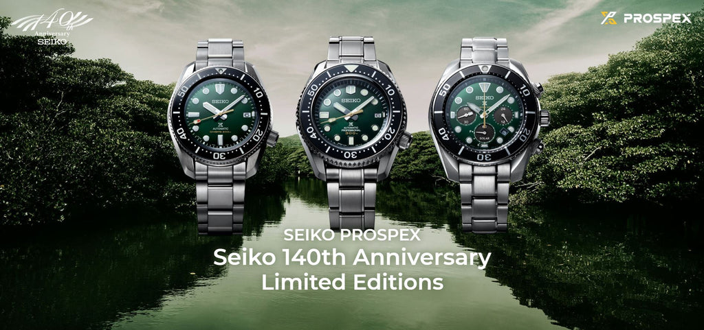 "Seiko Prospex 140th Anniversary  ""Island Green"" Limited Edition Series"