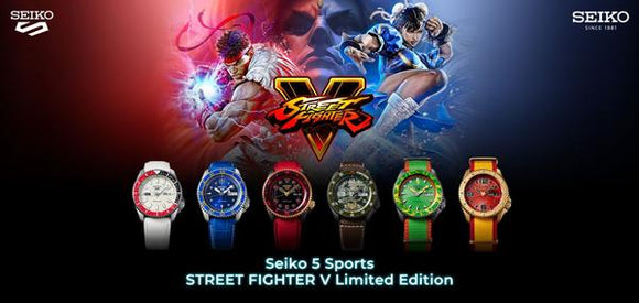 SEIKO 5 X STREET FIGHTER V LIMITED EDIITONS