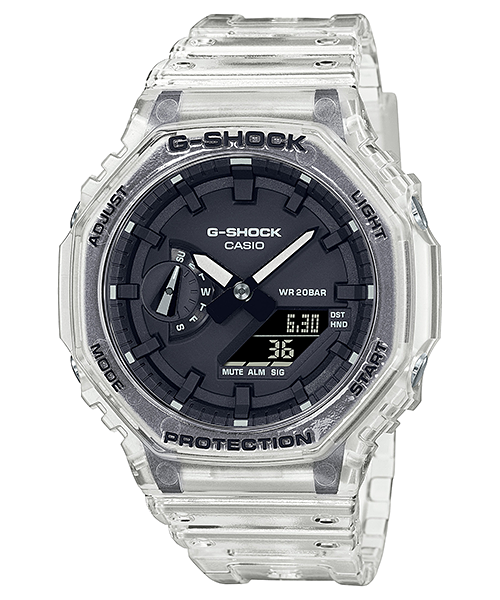 G-SHOCK CARBON CORE TRANSPARENT PACK SERIES DUO GA-2100SKE-7A