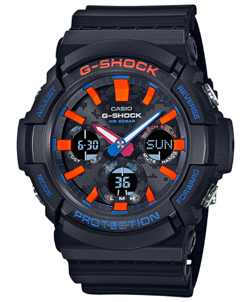 G-SHOCK CITY CAMOFLAGE SERIES SOLAR POWER DUO GAS-100CT-1A
