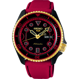 "SEIKO 5 X STREET FIGHTER COLLABORATION LIMITED EDITION SRPF20K - KEN "" RUSH 'N' BLAZE """