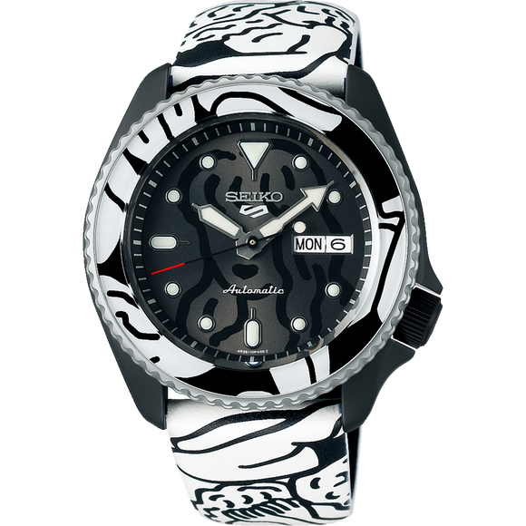 SEIKO 5 AUTO MOAI COLLABORATION LIMITED EDITION AUTOMATIC WATCH SRPG43K
