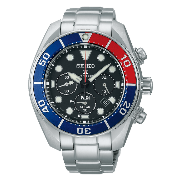 SEIKO PROSPEX SOLAR POWERED PADI SUMO CHRONOGRAPH SSC795J