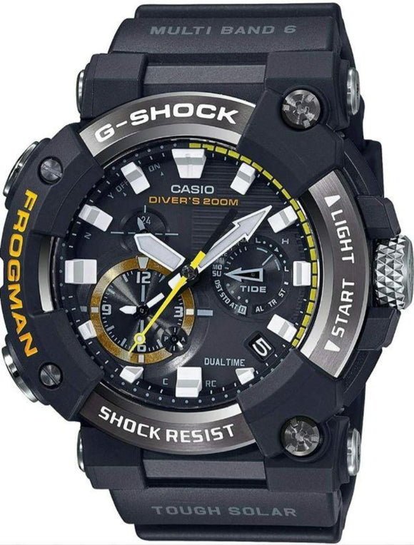 G-SHOCK FROGMAN MASTER OF G PROFESSIONAL CARBON CORE SOLAR DIVERS GWFA-1000-1A