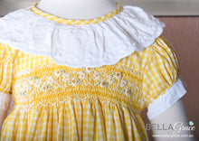 Load image into Gallery viewer, Yellow Gingham  (Children Smock Dress)