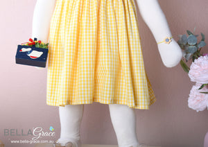 Yellow Gingham  (Children Smock Dress)