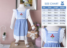 Load image into Gallery viewer, Sarah in Stripes Dress ( Children Smock Dress)