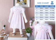 Load image into Gallery viewer, Lisa Classic in lite Soft Pink gingham (children smock dress)
