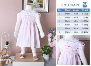 Lisa Classic in lite Soft Pink gingham (children smock dress)