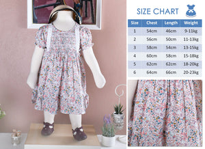 Garden flower dress (Children Smock Dress) with Bloomer