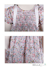 Load image into Gallery viewer, Garden flower dress (Children Smock Dress) with Bloomer