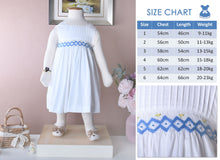 Load image into Gallery viewer, Judy White children's dress (Children smock dress)