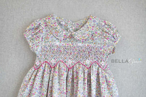 Mixed Flower Garden Dress (Children Smock Dress)
