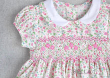 Load image into Gallery viewer, Susan Floral Pink Children Smock Dress