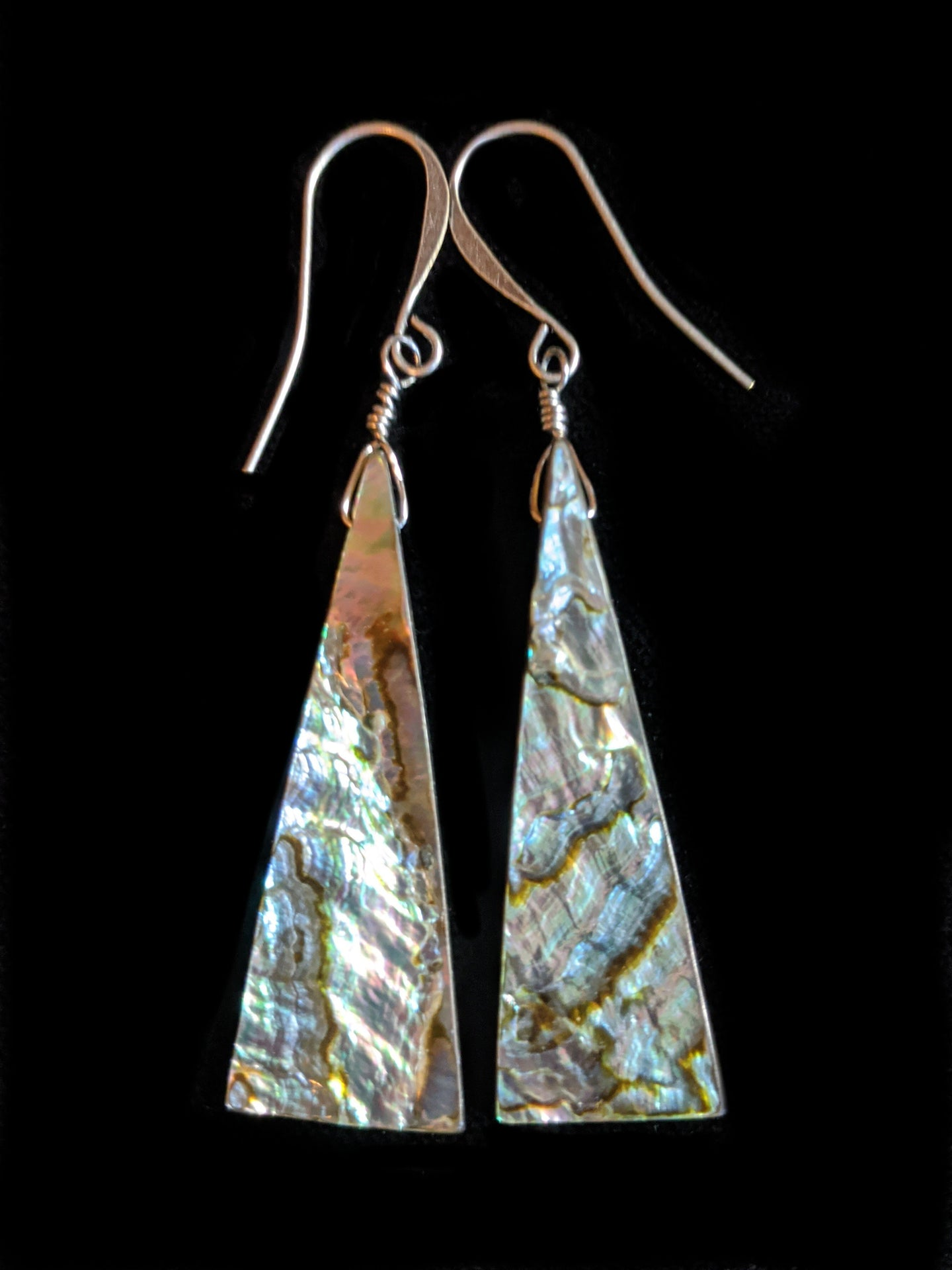 abalone shell earrings - sunroot studio
