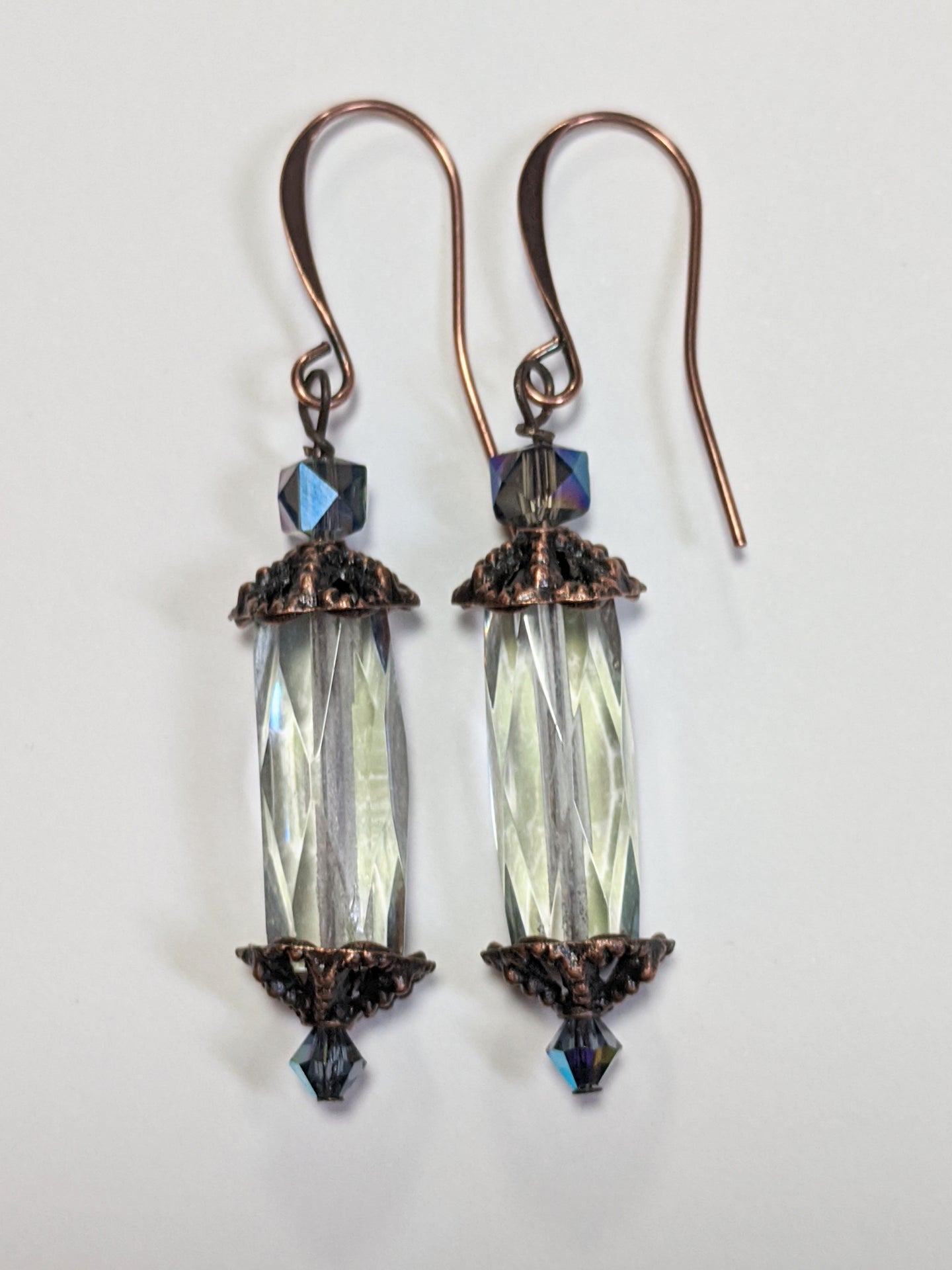 czech glass crystal earrings - sunroot studio