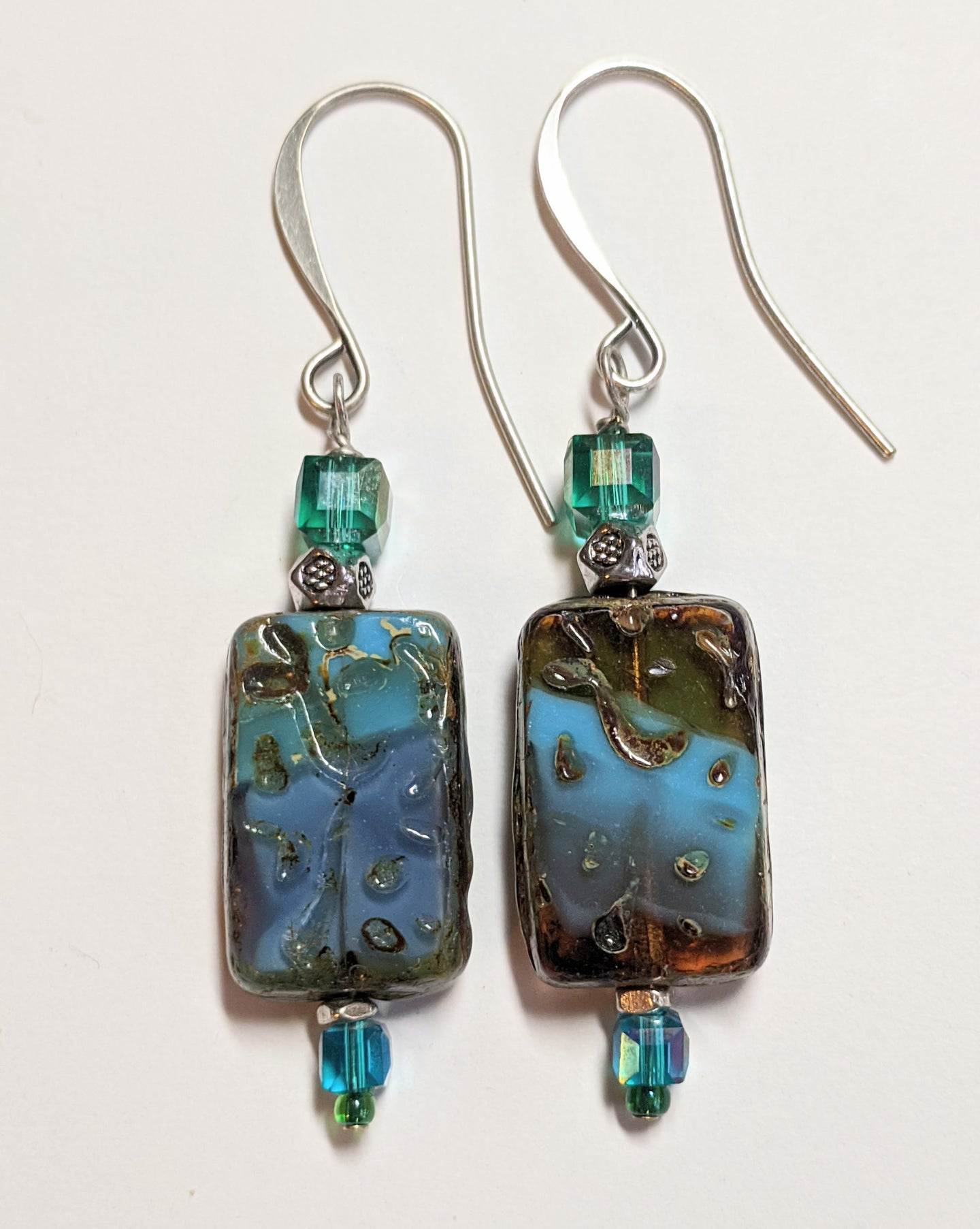 czech glass picasso earrings # 6