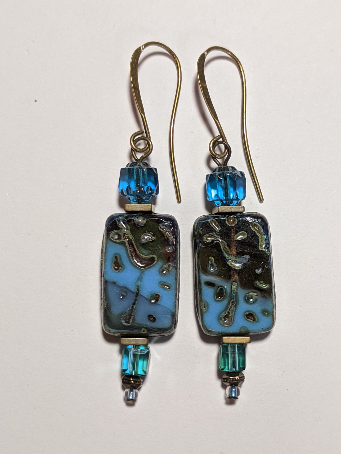 czech glass picasso earrings # 2 - sunroot studio