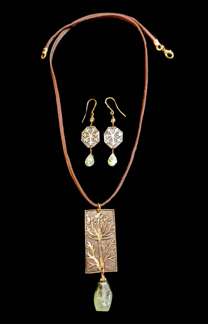 Dill Flower Pendant Necklace Set - Sunroot Studio