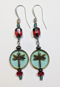 Dragonfly Earrings # 2 - Sunroot Studio