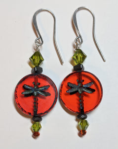 Dragonfly Earrings # 4 - Sunroot Studio