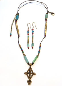 Ethiopian Cross & Roman Glass Set - Sunroot Studio