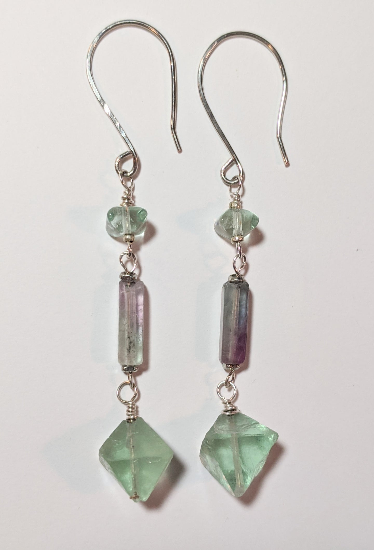 fluorite earrings - sunroot studio