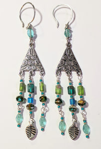 Glass Chandelier Earrings # 1 - Sunroot Studio