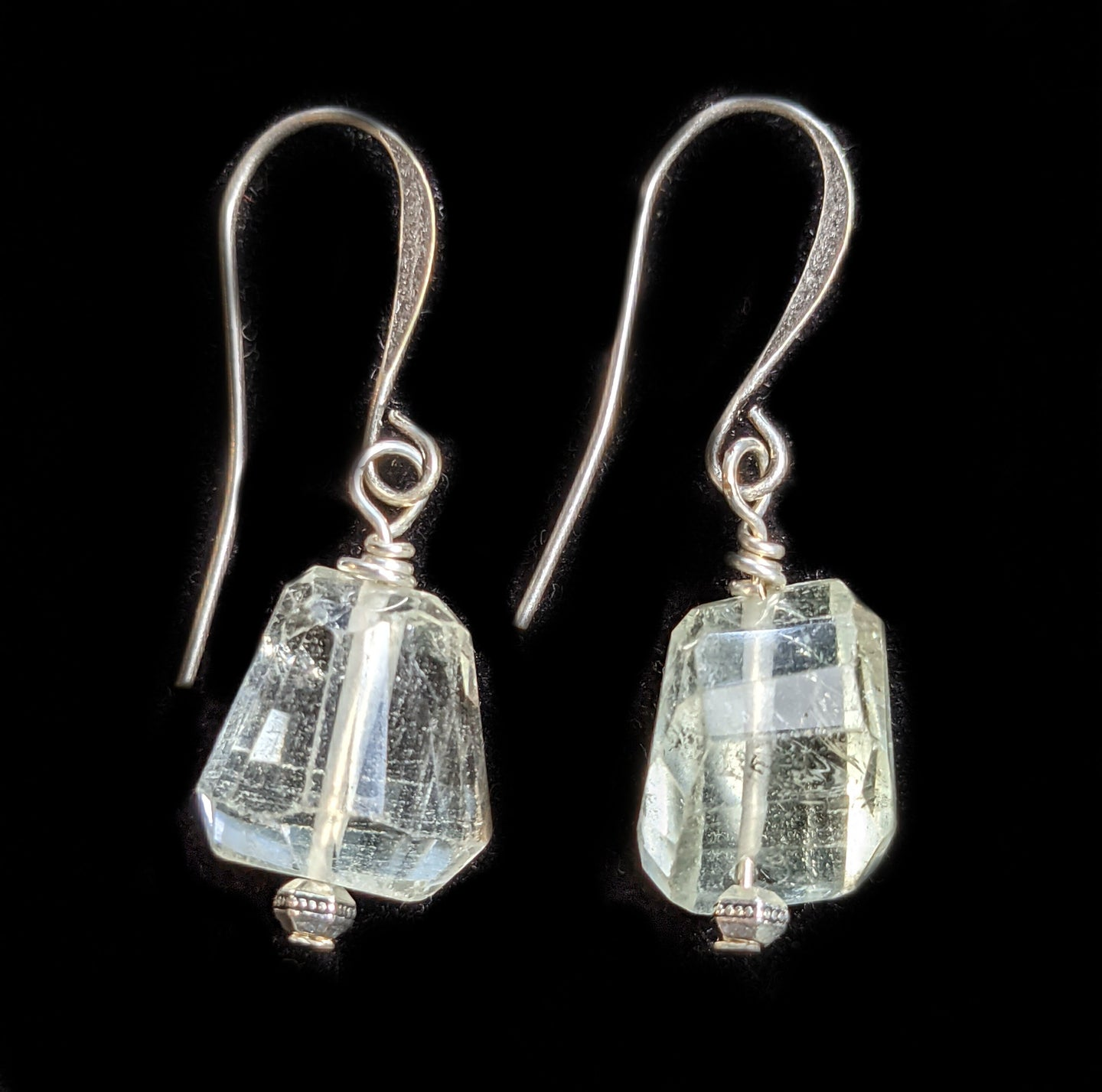 green amethyst earrings - sunroot studio