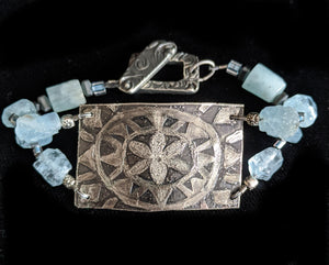 Nickel Silver Flower Mandala Bracelet - Sunroot Studio