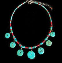 Load image into Gallery viewer, Tribal Turquoise & Coral Set - Sunroot Studio