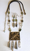 oak leaf & quartz necklace set - sunroot studio