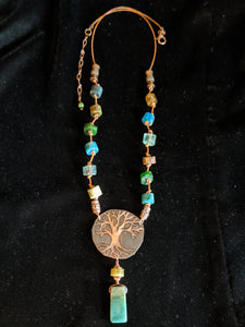 Copper Tree Set With Mixed Stones - Sunroot Studio
