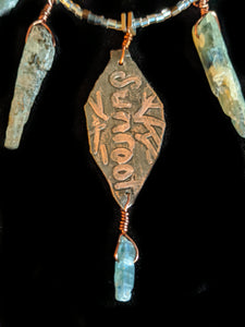 Copper Leaf & Kyanite Set 2 - Sunroot Studio