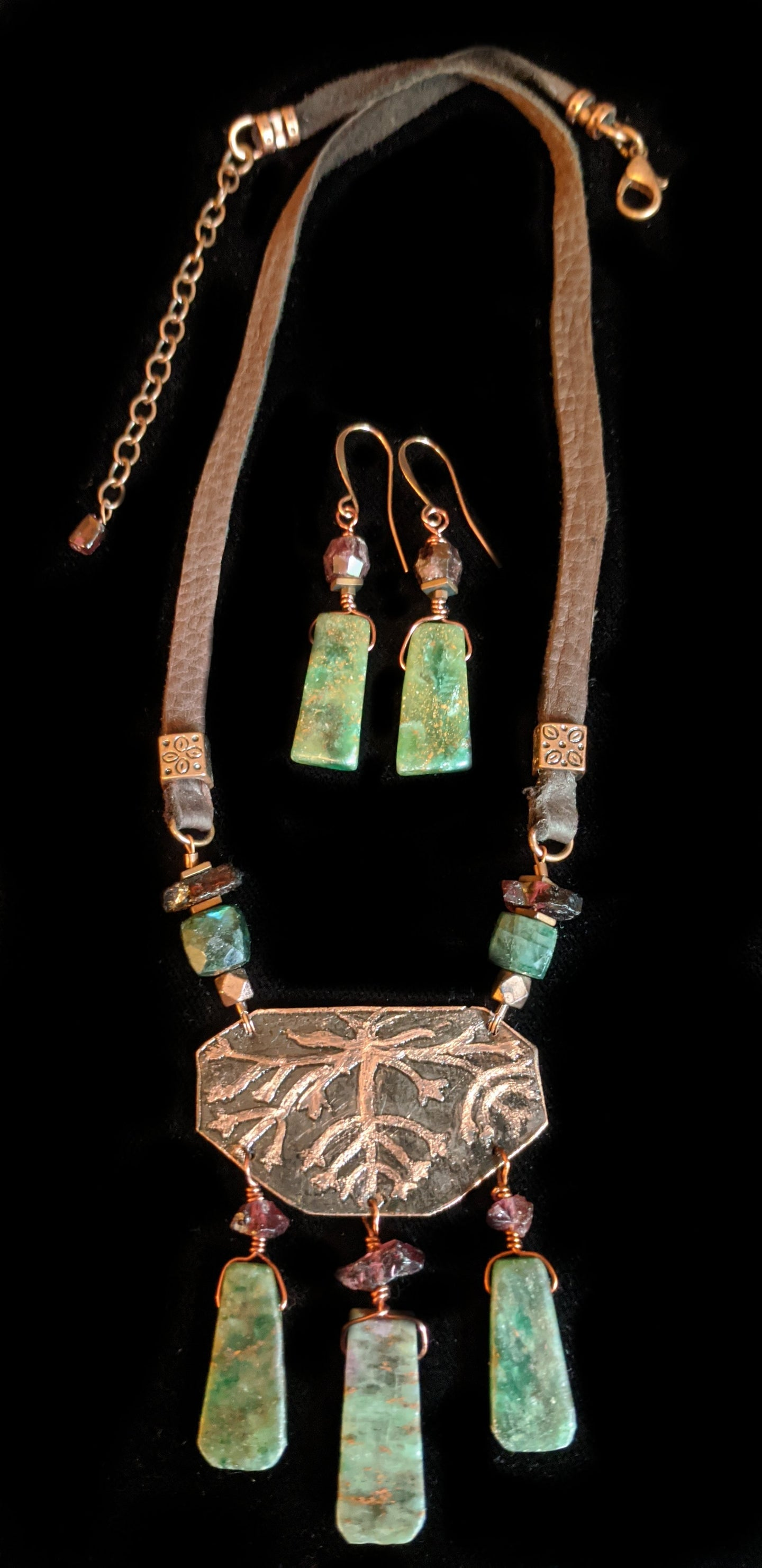 copper roots necklace set - sunroot studio