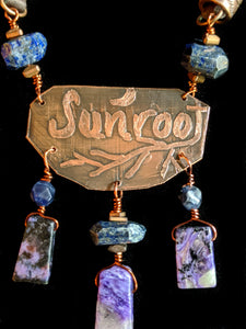 Copper Botanical & Charoite Set - Sunroot Studio