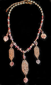 Copper Botanical Set with Mixed Stones - Sunroot Studio
