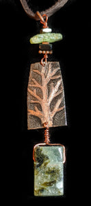 Copper Tree & Prehnite - Sunroot Studio