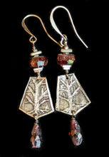 Load image into Gallery viewer, Nickel Silver Tree & Garnet Set - Sunroot Studio